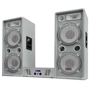 "Set DJ PA White Star Series ""Arctic Ice"" enceintes + ampli 2000W"