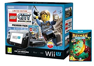 Nintendo Wii U Console, 32GB Premium Pack with Rayman Legends And LEGO City Undercover - Black (B00GASFGEQ) | Amazon price tracker / tracking, Amazon price history charts, Amazon price watches, Amazon price drop alerts
