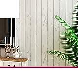 AIWQTO Vintage vliestapeten Selbstklebende mediterranen Blau Holz Vertikale Streifen Wohnzimmer Schlafzimmer wandsticker-Grau 53x500cm(21x197inch)