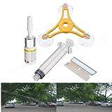 Footprintse DIY Auto Windschild Glas Reparatur Kit Glas Windschutzscheibe Reparatur Glas Werkzeuge (Farbe: mehrfarbig gemischt)
