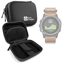 DURAGADGET Estuche Rígido Negro Para Smartwatch Garmin Fénix 3 / HR / Leather / Nylon / Titanium