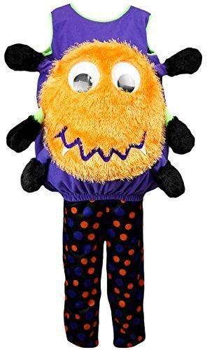 Jungen oder Mädchen Halloween Neuheit Spinne Kürbis-phantasie Verkleidung Outfit Kostüm größen von 1 to 4 Jahre - Schwarz, 1-2 Years (Passende Kostüme Für Jungen Und Mädchen)