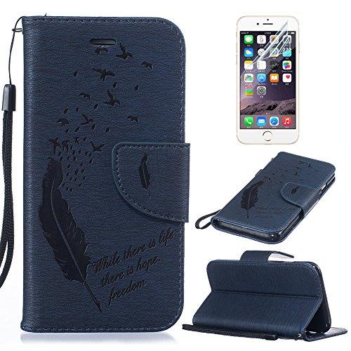 Custodia iphone 7, Cover iphone 7, Sunroyal® Portafoglio Wallet Flip Libro Dipinto Case Cover in (Designer Di Accessori Per Picnic)