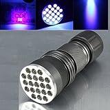 21 de aleación de aluminio LED LED Ultra Violet Linterna 3xAAA.