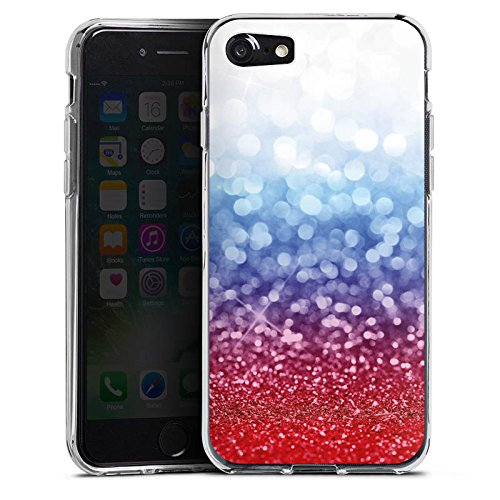 Apple iPhone X Silikon Hülle Case Schutzhülle Russian Glitter Glitzer Fahne Silikon Case transparent