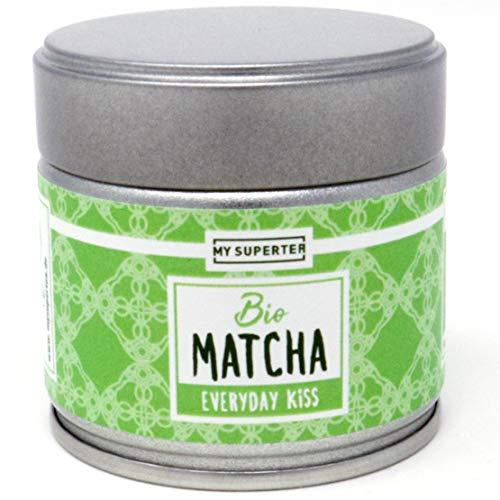 MY SUPERTEA Matcha Pulver - Everyday Kiss I Mild fruchtiger Bio Matcha Tee aus Japan I 30 Gramm Premium Matcha