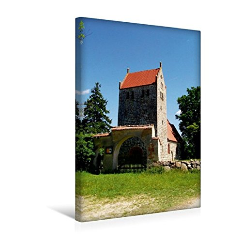 Premium Textil-Leinwand 30 cm x 45 cm hoch, Wehrkirche in Mechow | Wandbild, Bild auf Keilrahmen, Fertigbild auf echter Leinwand, Leinwanddruck (CALVENDO Orte)
