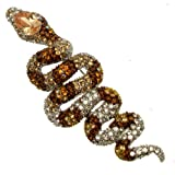 Acosta broches-Grand modèle Transparent Topaze &cristal Swarovski exotique Broche/pendentif serpent Boîte cadeau incluse