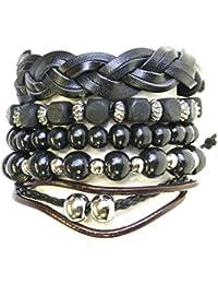 Set Of Bead / Cord & Leather Surf Surfer style Bracelets Bracelets