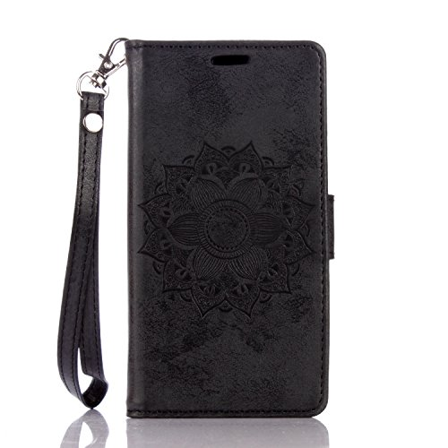 Huawei-P8-lite-CaseBONROY-Huawei-P8-lite-Mandala-PU-Leather-Phone-Holster-Case-Flip-Folio-Book-Case-Wallet-Cover-with-Stand-Function-Card-Slots-Money-Pouch-Protective-Leather-Wallet-Case-for-Huawei-P8