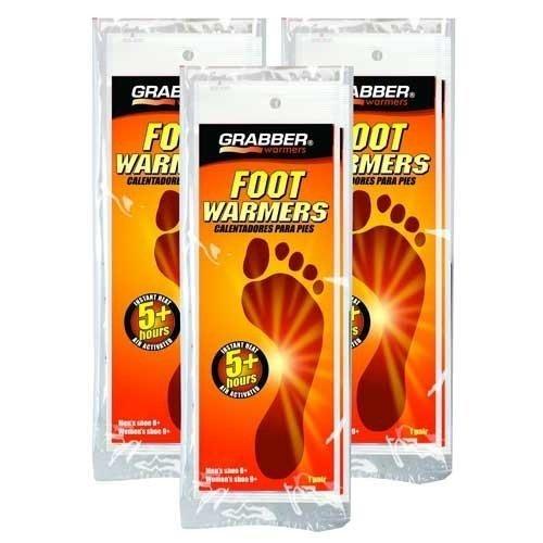 Grabber Fußwärmer 3Paar Pack Small Medium, durch Grabber, Inc -