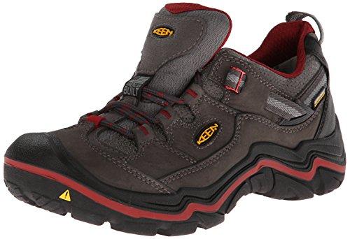 Keen  DURAND LOW WP W, Chaussures de randonnée femme Gris - Magnet/ Red Dahlia