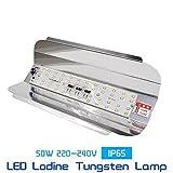 Gesto Led Flood Light 50W Ip65 Waterproof 220V 240V Iodine Tungsten Lamp,White