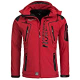 Geographical Norway TANGATA Herren Softshell Jacke Softshelljacke S-XXL, Größe:XL;Farbe:Rot