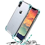 ABC GREEN Coque Transparente en Silicone Transparent, Etui Housse Bumper de Protection Compatible avec iPhone, Gel pour Apple iPhone avec Bordure renforcée avec Coussin d'air (iPhone X/XS)