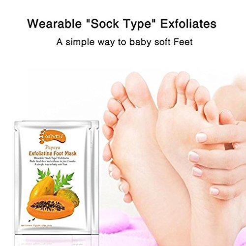 Fußmaske Hornhaut Entfernung, 2 Paar Fußpflege Fuß Peeling Maske Exfoliating Hornhautentferner Hornhaut Socken Schwielen und abgestorbene Haut Entferner Baby Foot Foot Mask