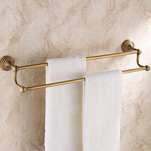 KHSKX Accessori per il bagno il bronzo antico bagno continentale il portasciugamani Doppia cremagliera di asciugamani