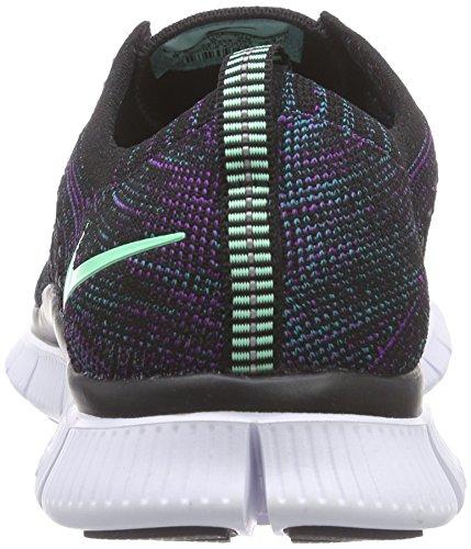 NikeFree Flyknit NSW - Scarpe Running Uomo Mehrfarbig (Blk/Grn Glw-Rdnt Emrld-Vvd Prp 003)