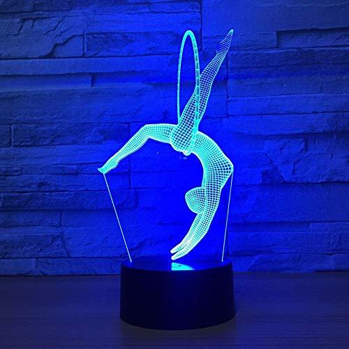 MOMA-NightLight Nachtlichter der Gymnastik-3D beleuchtet energiesparende Lampen-Acryl-Bunte Steigungs-Note/entfernter USB-Plug-in Wieder aufladbarer Bluetooth-Sprecher-Haus (Sprecher Haus)