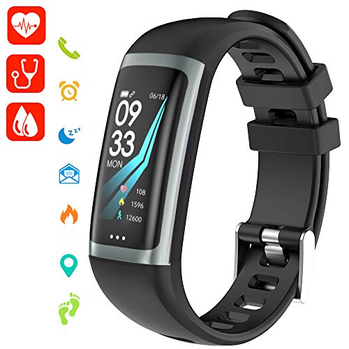 Cotify Unisex Jugend Aktivitäten, Schlaf, Puls, Sport, GPS, Tracker, Kalorienzähler Bluetooth, Kompatibel, 1, iOS & Android
