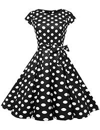 Vestidos de mujer elegantes 2018, VENMO Mujer Hepburn Vintage Vestido De Cóctel Punto Vestidos de