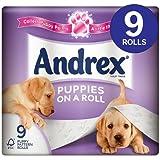 Andrex Puppies on a Roll Lot de Rouleau de papier toilette 9par lot de 1