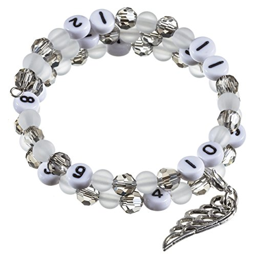 Stillarmband Grey - Praktisch für stillende Mütter sowie ein ideales Geschenk zur Geburt! (Polaris-/Glasschliffperlen)