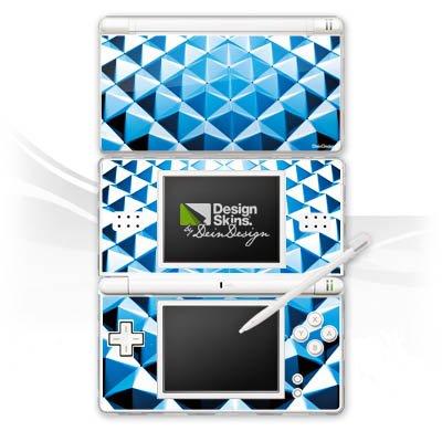 DeinDesign Nintendo DS Lite Case Skin Sticker aus Vinyl-Folie Aufkleber Nieten Muster Silber Blau