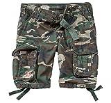 Surplus Hommes Airborne Vintage Shorts Délavées Woodland taille XXL