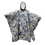 #9: Generic Waterproof Bionic Raincoat Poncho Hunting Camping Hiking Camouflage Yellow