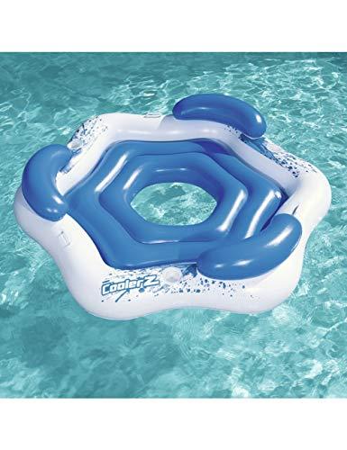 HGHFH Schwimmende Reihe 3-Personen-Runde Aufblasbare Party Island Float Boot Mit Haltern Schwimmbad Schwimmt Wasser Aufsitzspielzeug Pool Fun Raft, -