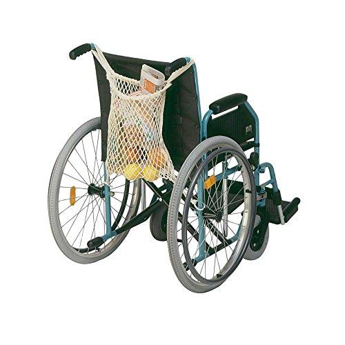 1x Behrend Rollstuhlnetz Einkaufsnetz für Rollstuhl Einkaufstasche Netz Beutel, grau