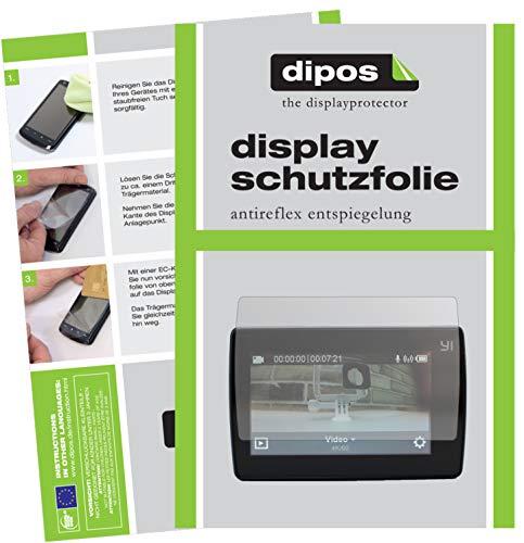 dipos I Schutzfolie matt kompatibel mit YI 4K Plus Displayschutz-Folie