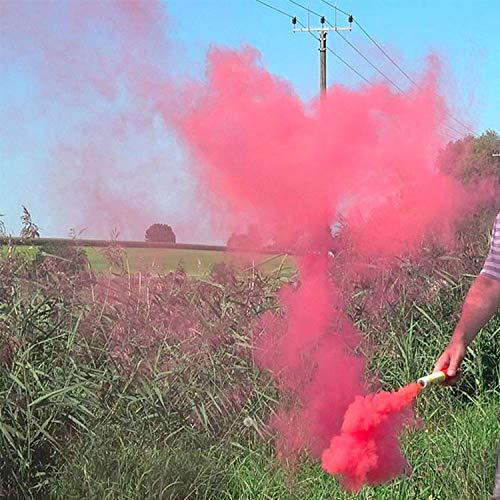Barium Buizen Notsignale Mr. Smoke 1, 1 Stück Raucherzeuger, Rauchpatronen Rauchbomben Farbige Rauchpellets Rauch Sender Bewirken Bombe Für die Fotografie und Notsituationen (Rosa) -