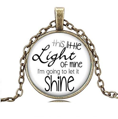 Diese Little Light of Mine Halskette, Christian Songs kinderbibelwoche Kirche Freund giftjewelry