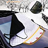 Car Snow Ice Cover 193*157*126CM 3 Magneti invisibili Schermo parabrezza anteriore Finestra anti-Theft Tergicristalli Free Cool e Dust Dust Frost Neve Ice Cover Protector Car