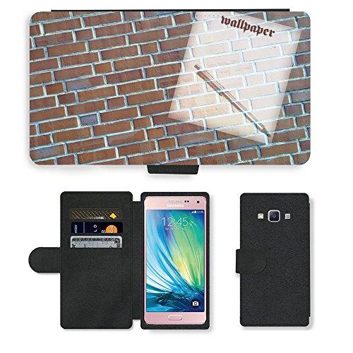 Portafoglio del Cuoio di vibrazione del Titolare della carta Custodia per // M00154382 Fond d'écran Image de fond Contexte // Samsung Galaxy A5 (not fit S5)