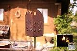 Gartenfackel - Motiv: Eule Wunderschöne Dekoidee zu verwenden als Gartendekoration, Ihr Zuhause oder der Terrasse - Gartenfackel von Manufakt-Design