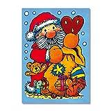 Bescherung Fensterbilder in DIN A4 von Lutz Mauder // Bunte Klebebilder für das Fenster Sticker Weihnachten Rentier Tannenbaum Geschenke Weihnachtskalender Nikolaus Engel Christmas Schneemann Winter Basteln Spielen Kleben