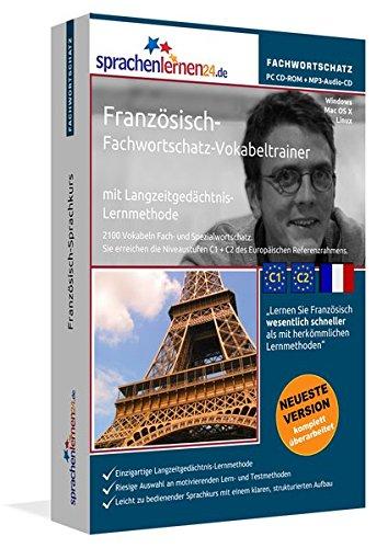 Französisch-Fachwortschatz-Vokabeltrainer mit Langzeitgedächtnis-Lernmethode von Sprachenlernen24.de: 2100 Vokabeln und Redewendungen. PC CD-ROM+MP3-Audio-CD. Für Windows 8,7,Vista,XP/Linux/Mac OS X