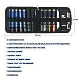 41 Stück Bleistift Zeichnen Set mit aquarell buntstifte wasservermalbar, Zeichnen Graphite Set In Federmäppchen, beste Geschenk zeichnen für Anfänger,Künstler, Schüler, Kinder von tvfly