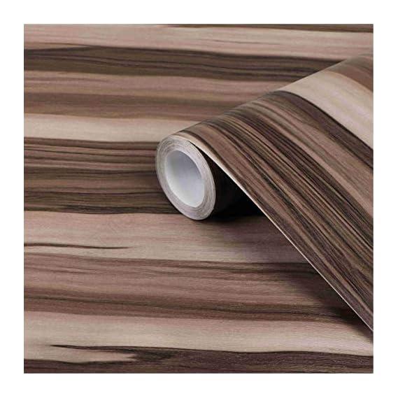 CVANU Self Adhesive Wood Grain Wallpaper Waterproof Old Furniture Vinyl Stickers Wooden Door Wardrobe Desktop PVC Wall Papers Cv168 12''x50''inch