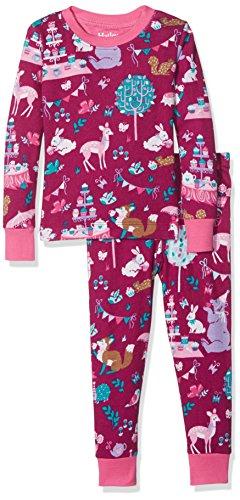 Sleeve Printed Pyjama Sets, Red (Woodland Tea Party), 4 Jahre (Mädchen Red Schlafanzug)