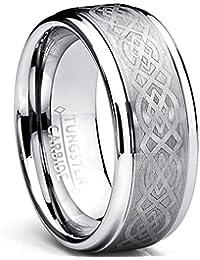 Ultimate Metals Co. 8MM Bague De Mariage Tungstene Avec Dessin Celtique