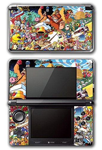 ro Collage Donkey Kong Bomberman Megaman Kirby Video Game Vinyl Decal Skin Sticker Cover for Original Nintendo 3DS System by Vinyl Skin Designs ()