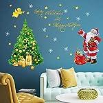 decalmile Adesivo Murale Natale Babbo Natale e Albero di Natale Vetrofanie Adesivi da Parete Finestra Vetrina Festa Decorazione Natalizia (Merry Christmas)