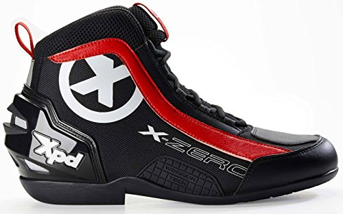 XPD X-Zero Motorradstiefel 46 Schwarz/Rot