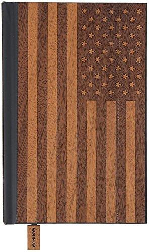 Woodchuck Classic Wood Tagebuch, America Edition-Handarbeit in den USA-100% recyceltem FSC zertifiziertem Papier Lined
