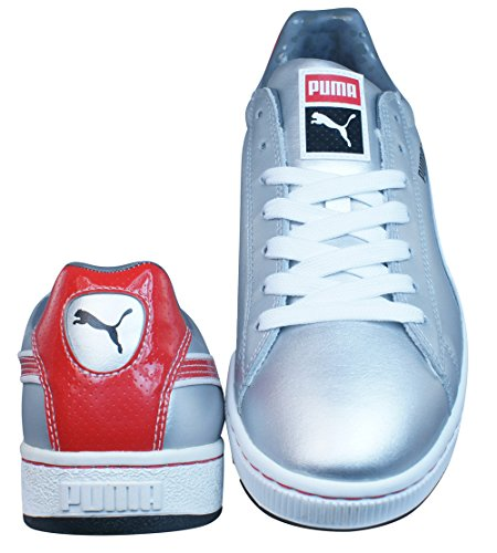 Puma Basket II Soda Hommes cuir formateurs - Chaussures silver