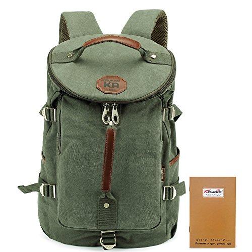 d1302964c4 KAUKKO Multi-Function Vintage Canvas Zaino escursionismo viaggio Zaini  militari Messenger Bag